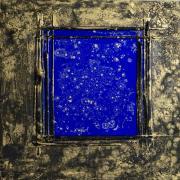 Open Ceiling, 2017 - vinyl and mixed media, 80 x 80 cm