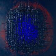 Through the Net, 2017 - vinile su tela, 120 x 100 cm