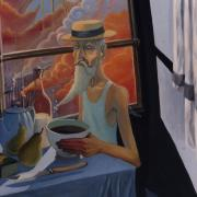 Petit Déjeuner, 1989 - oil on canvas, 85 x 55 cm