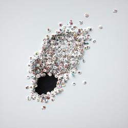Hole, 2012 - vinyl on canvas, 100 x 100 cm