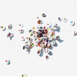 Naissance d'Idée, 2008 - vinyl on canvas, 40 x 40 cm