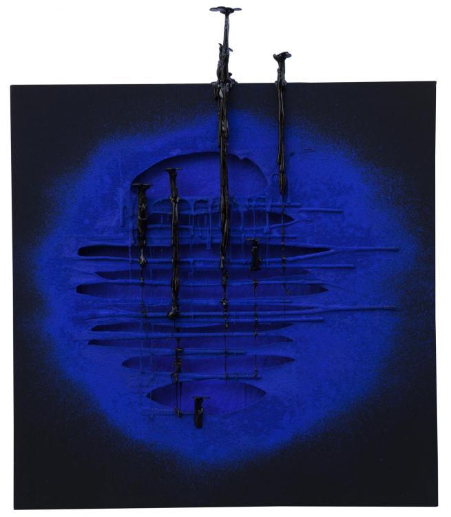 Il Segno, 2016 - vinyl on canvas, 80 x 80 cm