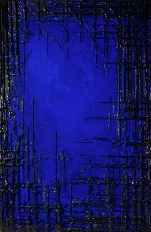 Deep Water, 2016 - vinyl on canvas, 150 x 100 cm
