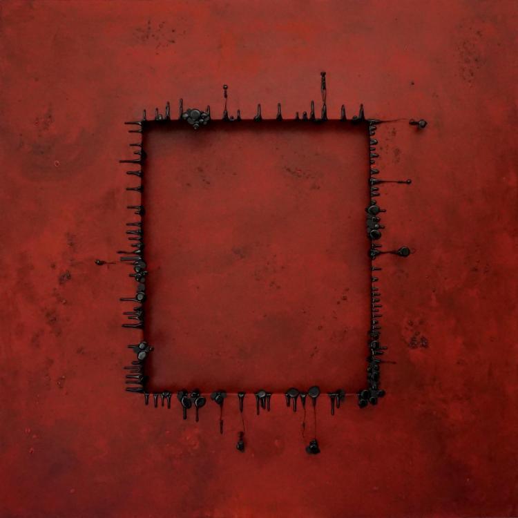Trajectoires Stable, 2018 - vinyl, 120 x 120 cm